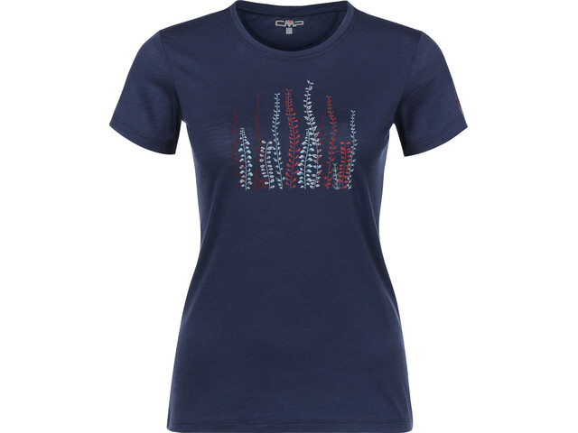 CMP Campagnolo Camiseta con Impresión Mujer, marine